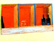 Impasto Oil Digital Art - The Winebox by Israel  A Torres