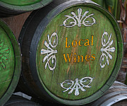 Wine Barrels Framed Prints - The Winery Framed Print by Art Block Collections