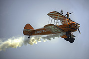 Smoke Trail Photos - The Wing Walker  by Rob Hawkins