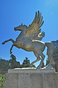 Horse Sculpture Prints - The Winged Horse Print by Barry Lennon