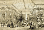 Victorian Drawings Metal Prints - The Winter Garden Metal Print by A Provost