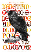Gothic Crows Prints - The WISE RAVEN Print by Daniel Hagerman