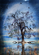 Mysterious Digital Art Metal Prints - The Wishing Tree Metal Print by John Edwards