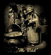 John Malone Art Work Digital Art Posters - The Witch Poster by John Malone