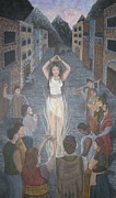 Discrimination Paintings - The Witch Trials  by Malinda  Prudhomme