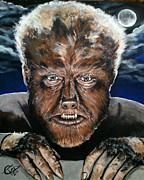 Classic Horror Framed Prints - The Wolf Man Framed Print by Tom Carlton