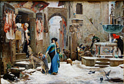 Famous Artists - The Wolf of Gubbio by Luc-Olivier Merson