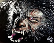 Wolfman Framed Prints - The Wolfman Framed Print by Tom Carlton