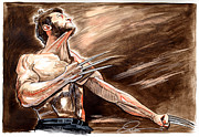 Wolverine Drawings - The Wolverine by Dave Olsen