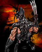 Marvel Metal Prints - The Wolverine Metal Print by Pete Tapang