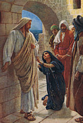 Son Of God Paintings - The Woman of Canaan by Harold Copping