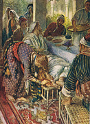 The Woman With The Box Of Ointment Print by Harold Copping