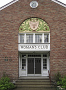 French Doors Metal Prints - The WOMANS CLUB BIDS YOU WELCOME Metal Print by Daniel Hagerman