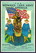 The Woman's Land Army Of America 1918 Print by Padre Art