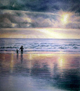 Seashore Pastels Prints - The Wonder of Light Genesis 1.3 Print by Rosemary Colyer