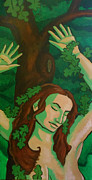 Goddess Mythology Paintings - The Wooded Woman by Whitney Morton