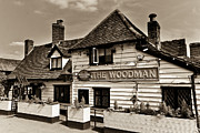 Woodman Prints - The Woodman Pub Print by David Pyatt
