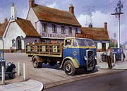 Old Car Art Prints - The Woodman pub. Print by Mike  Jeffries
