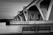 Woodrow Posters - The Woodrow Wilson Bridge Poster by Steven Ainsworth