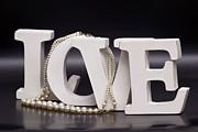 The Word Love Print by Tommy Hammarsten