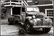 Rusted Cars Posters - The Work Truck Edition 2 Poster by Roxy Hurtubise