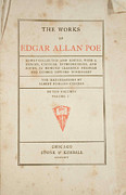 Book Cover Prints - The Works of Edgar Allan Poe Print by Philip Ralley