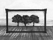 Horizon Drawings - The World In A Frame by J Ferwerda
