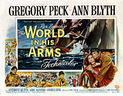 1952 Movies Framed Prints - The World in His Arms 1952 Framed Print by Mountain Dreams