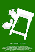 Movie Posters Prints - The Worlds End Cornetto Trilogy Custom Poster Print by Jeff Bell