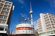 Place Of Interest Posters - The Worldtime Clock Alexanderplatz Berlin Germany Poster by Michal Bednarek