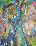 Live Painting Originals - The Worried Mother by Esther Newman-Cohen