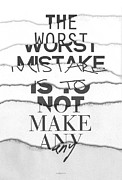 Featured Digital Art Framed Prints - The Worst Mistake Framed Print by Wrdbnr