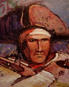 Independence Painting Originals - The wounded patriot by R W Goetting