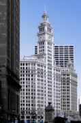 Michigan Avenue Posters - The Wrigley - A building that is pure Chicago Poster by Christine Till