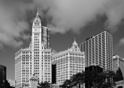 Highrise Framed Prints - The Wrigley Building Chicago Framed Print by Christine Till