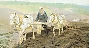 The Writer Lev Nikolaevich Tolstoy Print by Ilya Efimovich Repin
