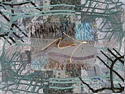Abstract Expressionist Metal Prints - The Writing On The Wall 13 Metal Print by Tim Allen