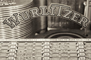 Jukebox Art - The Wurlitzer BW by Martin Bergsma