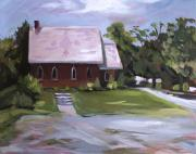 Churches Painting Originals - The Wyben Union Church by Nancy Griswold