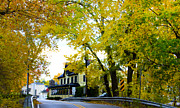 Inn River Framed Prints - The Yardley Inn in Autumn Framed Print by Bill Cannon