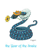 Zodiac Paintings - the Year of the Snake by Nonna Mynatt