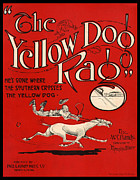 The Bare Back Prints - The Yellow Dog Rag Print by Pierpont Bay Archives