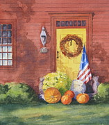 Bittersweet Painting Posters - The Yellow Door Poster by Vikki Bouffard