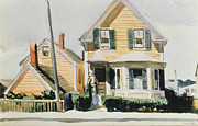 Lamp Post Framed Prints - The Yellow House Framed Print by Edward Hopper