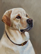 Labs Paintings - The Yellow Page by Janet  Crawford