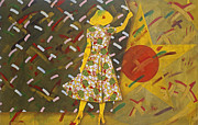 Shock Painting Originals - The Yellow rose Of Texas by Charles Stuart