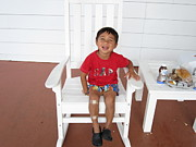 Young Man Photo Originals - The Young Old Man In The Rocking Chair by JS Matthew