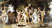 Christian Mythology Prints - The Youth of Bacchus Print by William Bouguereau