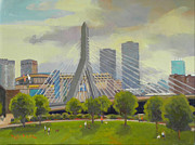 Dianne Panarelli Miller Prints - The Zakim Bridge Print by Dianne Panarelli Miller