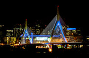 Zakim Framed Prints - The Zakim Framed Print by David Pinsent